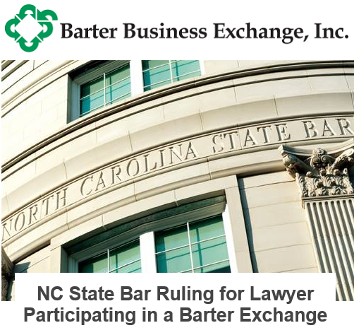 NC State Bar Ruling for Lawyer Participating in a Barter Exchange
