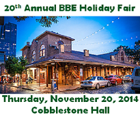 The BBE Holiday Fair is Nov. 20, 2014